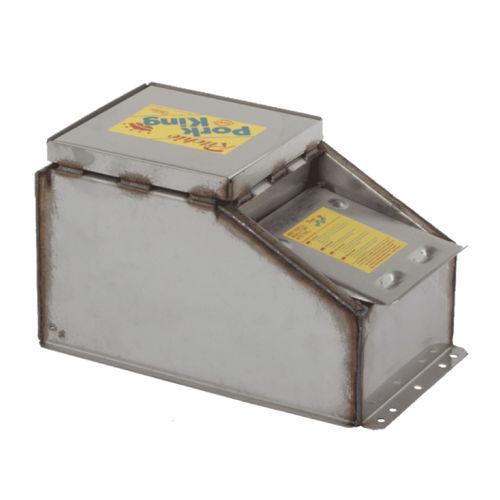 водопойный желоб для свиней / с лотком / из нержавеющей стали / для напольного крепления