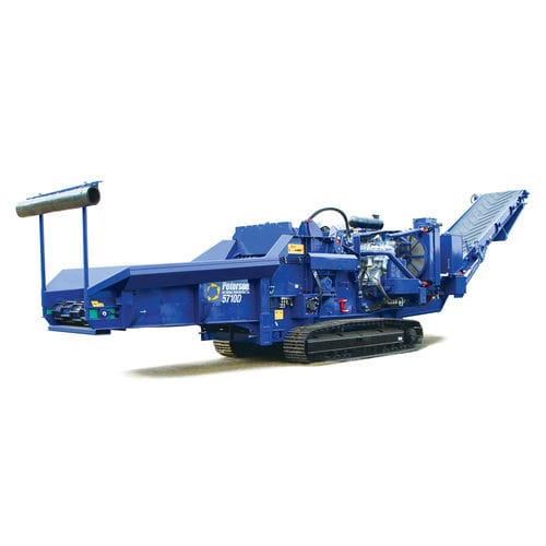 самоходный измельчитель веток / с двигателем внутреннего сгорания / гусеничный