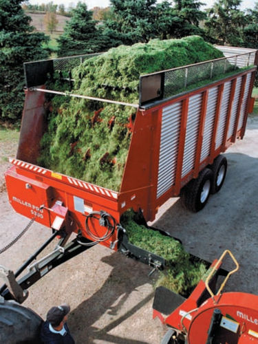 прицеп с кузовом / двухосный / для силоса / для сбора урожая