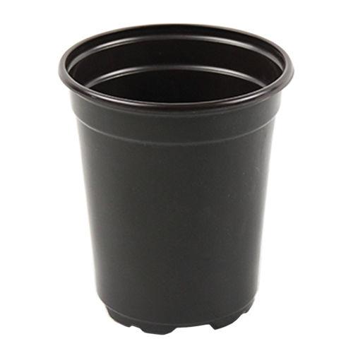горшок из пластика / круглый / черный / многоразовый