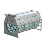 фильтр для аквакультуры / с барабаном / с промывной водой / из стали