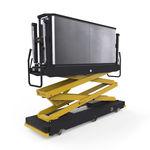 транспортировочная тележка для теплицы / с платформой / из металла / на рейке
