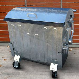 мусорный контейнер из гальванизированной стали