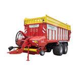прицеп с кузовом / двухосный / для силоса / 21 тонна