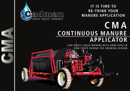 Continuous Manure Applicator (CMA)