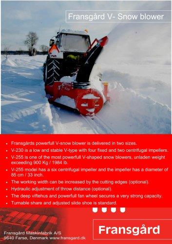 Fransgård V- Snow blower