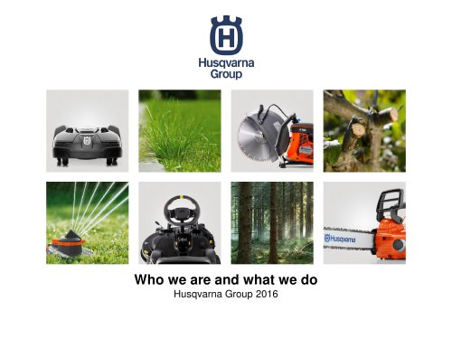 Husqvarna Group 2016