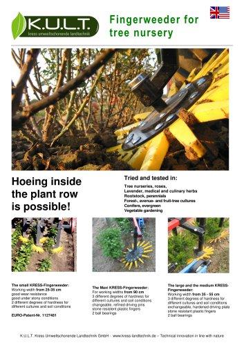 Fingerweeder MAXI for tree nursery