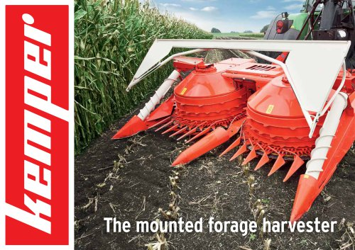 The mounted forage harvester