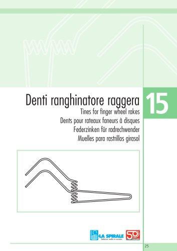 Tines for finger wheel rakes : 15