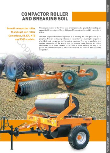 COMPACTOR ROLLER AND BREAKING SOIL