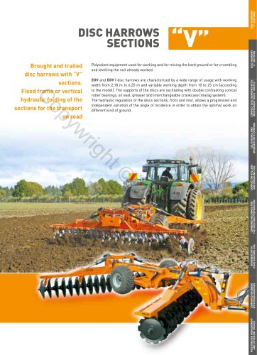 DISC HARROWS SECTIONS