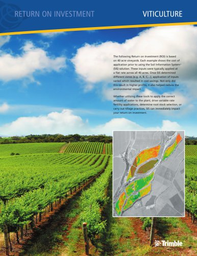 RETURN ON INVESTMENT VITICULTURE