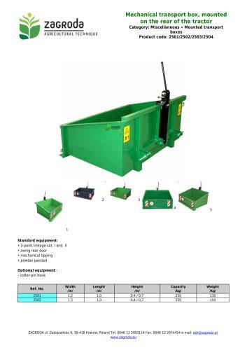 Mechanical transport box