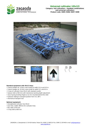 Universal cultivator (45x12)