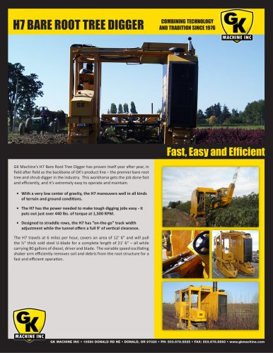 H7 BARE ROOT TREE DIGGER