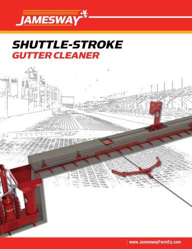 SHUTTLE-STROKE GUTTER CLEANER