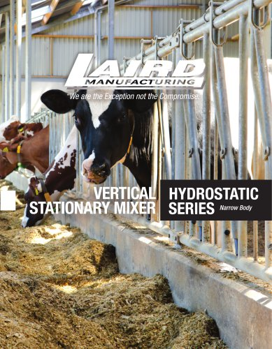 VERTICAL STATIONARY MIXER Hydrostatic Series
