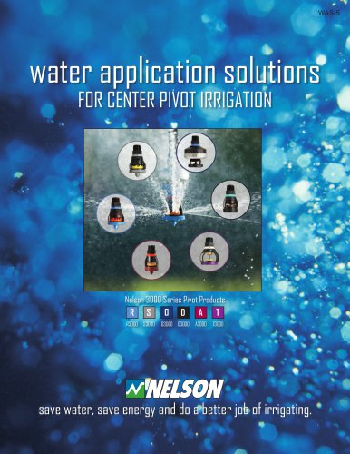 Water Application Solutions for Center Pivot Irrigation