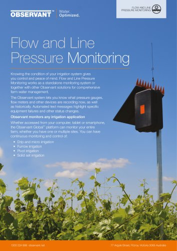 Flow and Line Pressure Monitoring