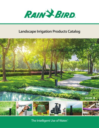 2018 Rain Bird Landscape Irrigation Products Catalog