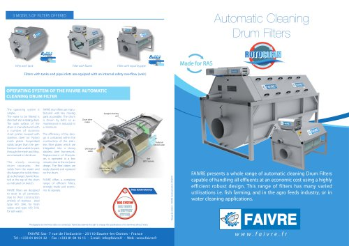 Automatic Cleaning Drum Filters