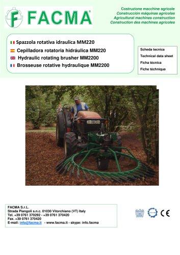 Hydraulic rotating brusher