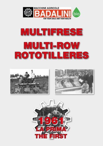 Multifrese - Multi-row rototiller