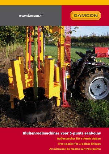 Tractor tree spade