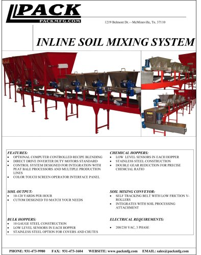 Inline Soil Mixing System