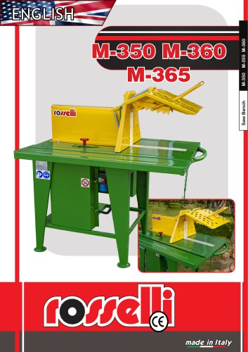 Circular saw with electric motor and sliding table M-350 M-360 M-365 - Rosselli Snc
