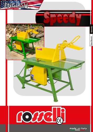 Speedy 700 R Circular saw with sliding table - Rosselli Snc