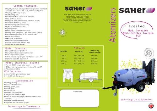 Trailed Atomizer Inverter Torreta and Torreta ECO