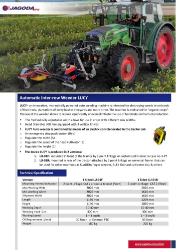 LUCY auto weeding machine