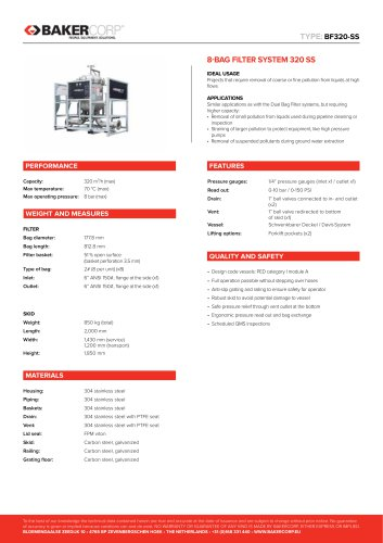 BAG FILTER SYSTEM 320 SS