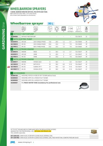 Wheelbarrow sprayer 90 L