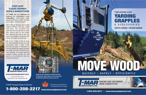t-mar yarding grapple brochure-2018