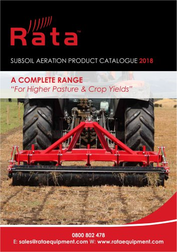 Rata Soil Aerator Catalogue