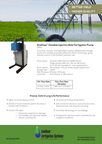 EcoDose AG15 Fertigation Pump
