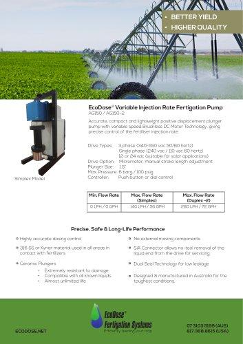 EcoDose AG150 2 Fertigation-Pump