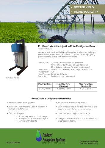 EcoDose AG50 Fertigation Pump