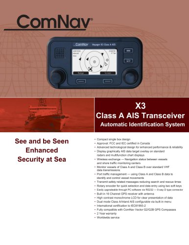 X3 Class A AIS Transceiver
