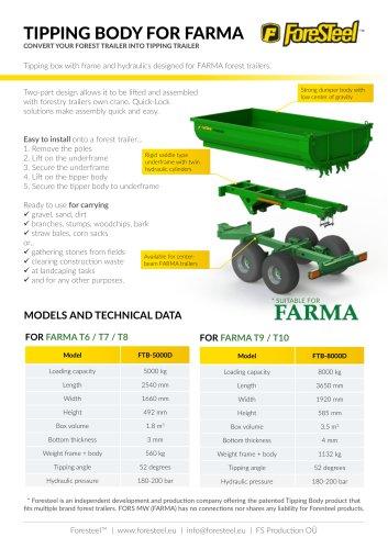 Foresteel Tipping Body brochure for FARMA