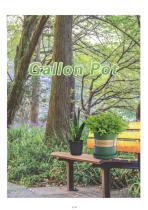 Printing Logo Plastic Quality Flower Gallon Pots