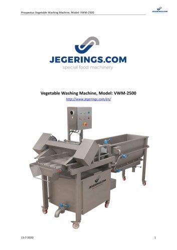 VWM-2500 Vegetable Washing Machine
